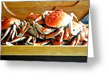 Crab To Clean Greeting Card