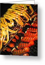 Crab Vs. Lobster Greeting Card