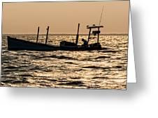 Crabbing On The Bay Greeting Card