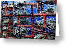 Crabpots Greeting Card
