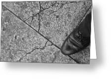 Crack In The Pavement Greeting Card