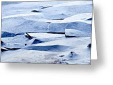 Cracked Icescape Greeting Card