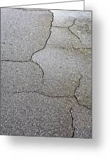 Cracked Tarmac Greeting Card
