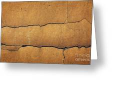 Cracked Yellow Wall Greeting Card