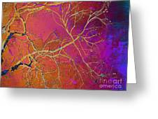 Crackling Branches Greeting Card