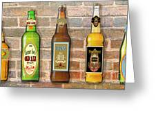 Craft Beer Collection On Brick Greeting Card