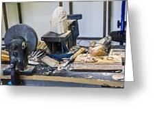 Craftsman Work Table Greeting Card