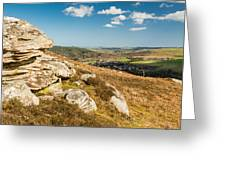 Crags Over Rothbury Greeting Card