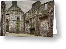 Craigmillar Castle Ruin Edinburgh Greeting Card