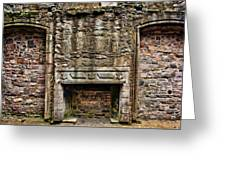 Craigsmillar Castle Fireplace Greeting Card