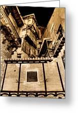 Crammed Floors In Albarracin Greeting Card
