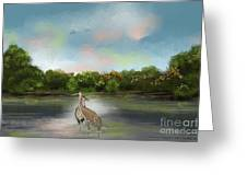 Crane Habitat Greeting Card