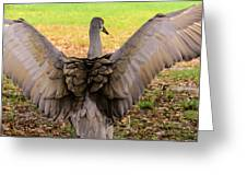 Crane Spreading Wings Greeting Card