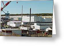 Cranes At Metal Factory, Bath Greeting Card