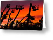 Cranes Greeting Card by Lynda Jeffers