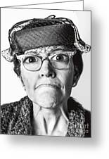 Cranky Old Lady Greeting Card