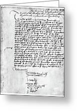 Cranmer Declaration, 1537 Greeting Card