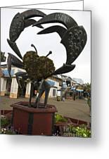 Crap Sculpture Fisherman's Wharf San Francisco Greeting Card