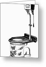 Crapper Toilet, 1890s Greeting Card