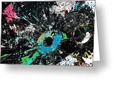 Crash Of The Eye Galaxy Greeting Card