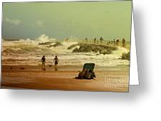 Crash Of The Waves Greeting Card