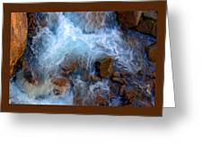 Crashing Falls On Rocks Below Greeting Card