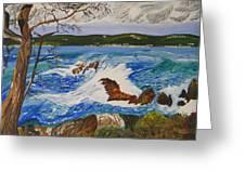 Crashing Wave Greeting Card by Eric Johansen