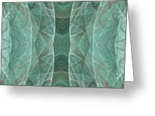Crashing Waves Of Green 4 - Square - Abstract - Fractal Art Greeting Card