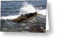 Crashing Waves - Rhode Island Greeting Card