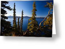 Crater Lake At Sunrise Greeting Card