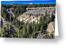 Crater Lake Canion Greeting Card
