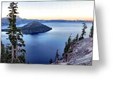 Crater Blue Greeting Card