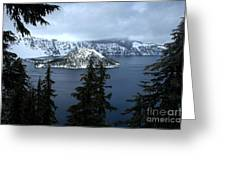 Crater Lake Oregon Greeting Card