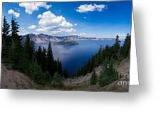 Crater Lake Pnorama - 2 Greeting Card