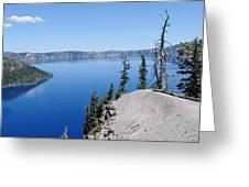 Crater Lake Scenic Panorama Greeting Card