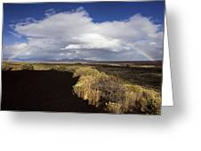 Craters Of The Moon Rainbow Greeting Card