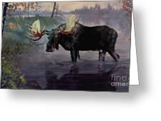Craven Moose Greeting Card