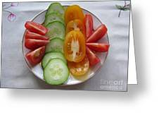 Craving For Fresh Vegetables Greeting Card