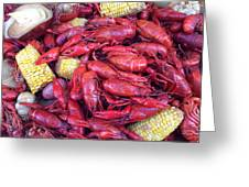 Crawfish Time In Louisiana Greeting Card by Katie Spicuzza
