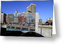 Crawford Street Bridge In Providence Ri Greeting Card