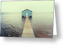 Crawley Edge Boatshed Greeting Card by Yew Kwang
