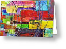 Crazy Abstract Greeting Card