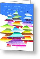 Crazy Christmas Trees Greeting Card