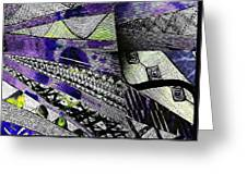Crazy Cones Purple Greenl2 Greeting Card