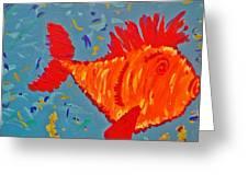 Crazy Fish Greeting Card