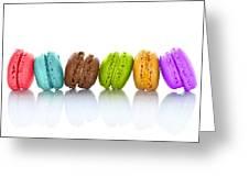Crazy Macarons Horizontal Greeting Card