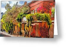 Crazy Whimsy Wacky New Orleans Greeting Card by Christine Till