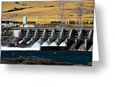 The Dalles Dam Greeting Card