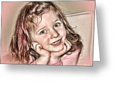 Creative Portrait Sample In Hdr Greeting Card