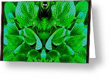 Creatures In The Green Fauna Greeting Card